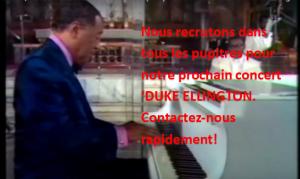 Nous recrutons dans tous les pupitres pour notre prochain concert Duke Ellington. Contactez-nous rapidement !
